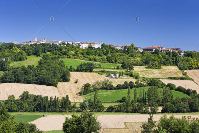 Rural French Town and Landscape