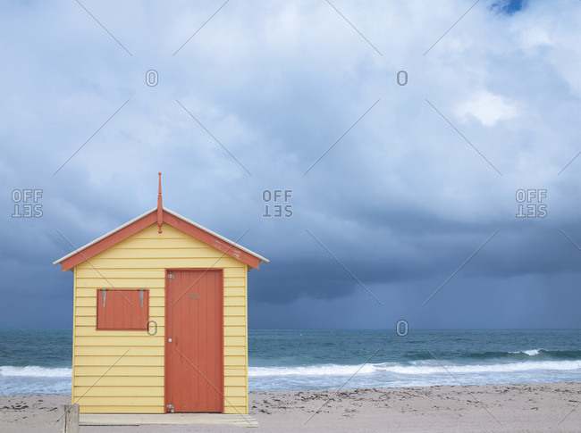 Beach Hut on beach sand