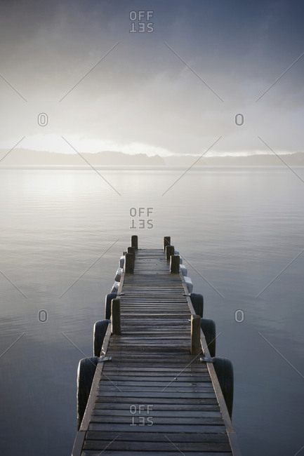 Wooden Jetty Over a Lake