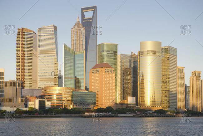 Shanghai, ChinaFebruary 8, 2019: Shanghai City Skyline