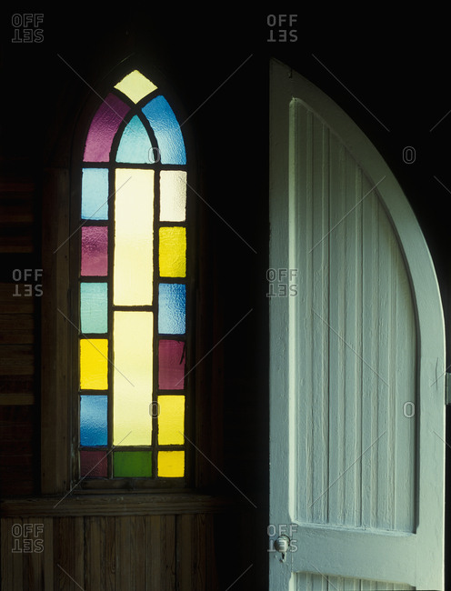 Door and Stained Glass Window