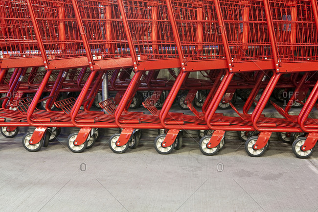 Red Grocery Carts