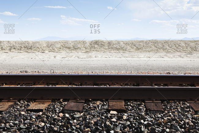 Railroad Tracks Through the Salt Flats