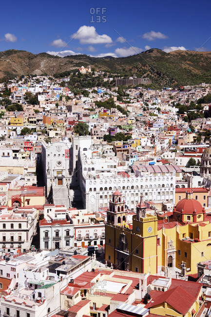 City of Guanajuato, Guanajuato, MexicoFebruary 8, 2019: City Skyline, Overlook at the Ppila