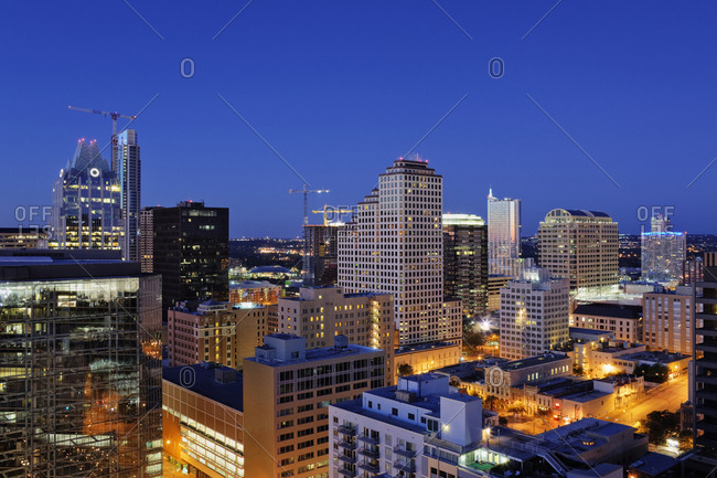 City Skyline of buildings - Offset