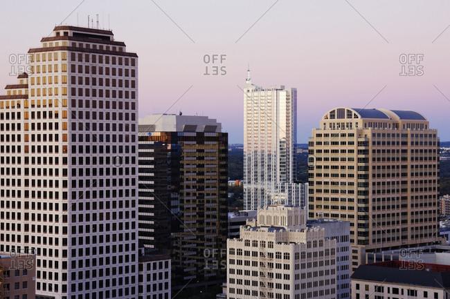 Austin, Texas, USAFebruary 8, 2019: City Skyline of buildings