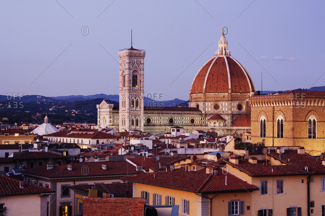 Cathedral Dome of Santa Maria del Fiore at Dusk