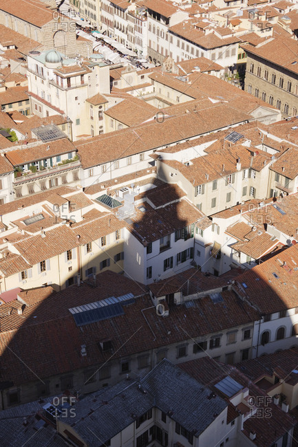 Shadow of the Duomo on Buildings of Florence