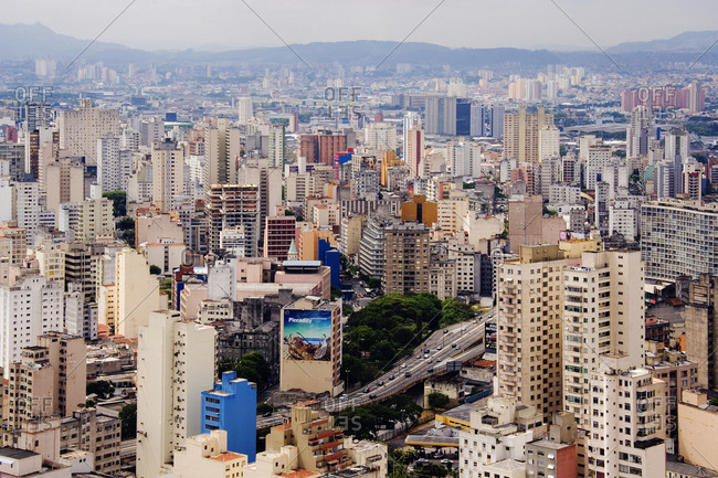 Sao Paulo, BrazilFebruary 8, 2019: Buildings of Downtown Sao Paulo