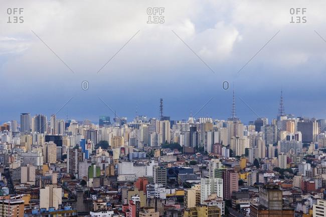 Sao Paulo, BrazilFebruary 8, 2019: Buildings of Downtown Sao Paulo