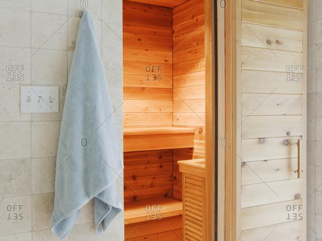 Sauna. Very hot room