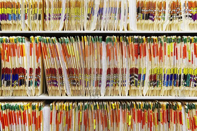 Colorful Medical Folders