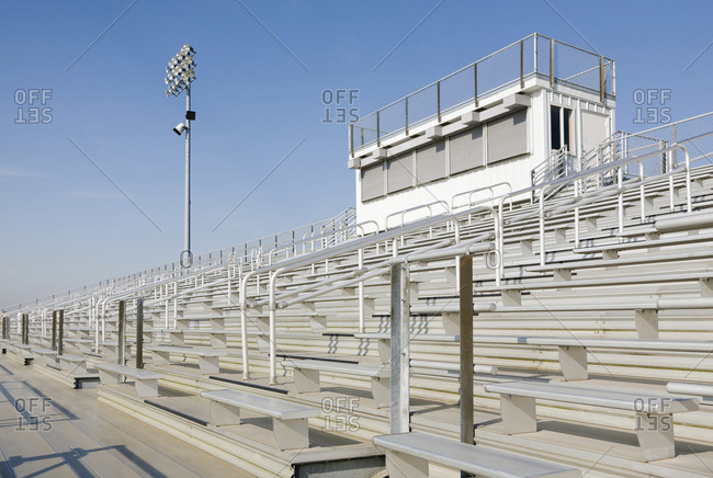 Bleachers from sporting event