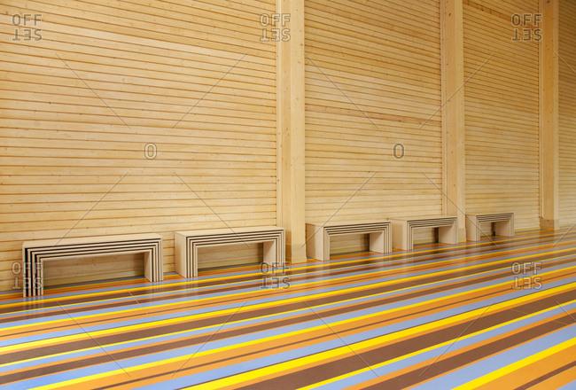 Colorful Gymnasium Floor