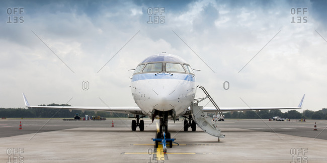 EstoniaFebruary 6, 2019: Private jet on tarmac