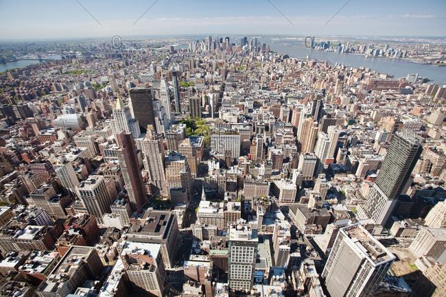 New York, New York, USAFebruary 6, 2019: Aerial View of Manhattan