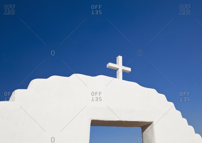 Cross On An Archway