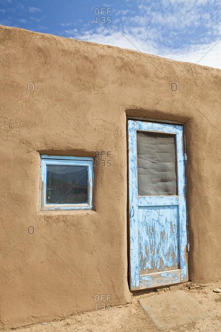 Door to An Adobe Building