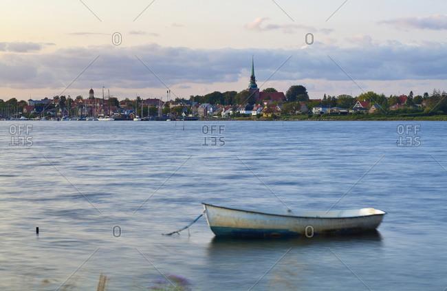 Boat Docked in Harbor