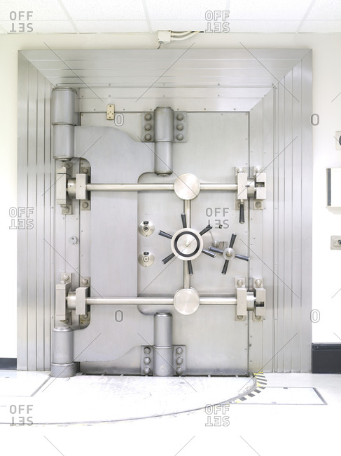 Closed Bank Vault Door the US Federal Reserve Bank of