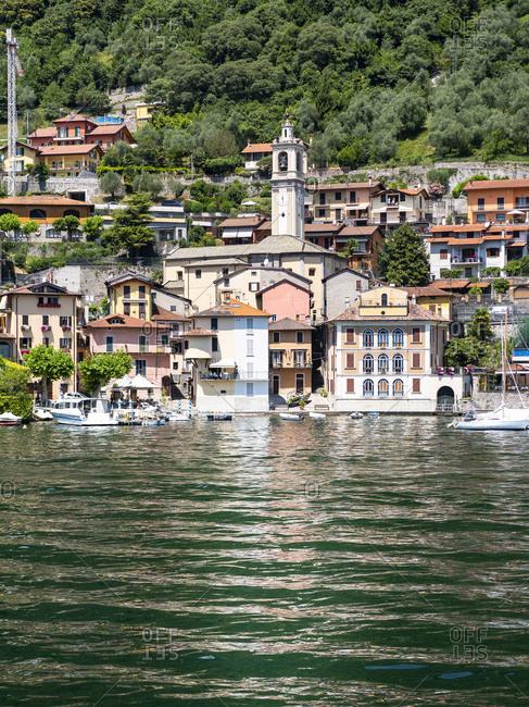 Italy- Lombardy- Lake Como- Tremezzina- townscape