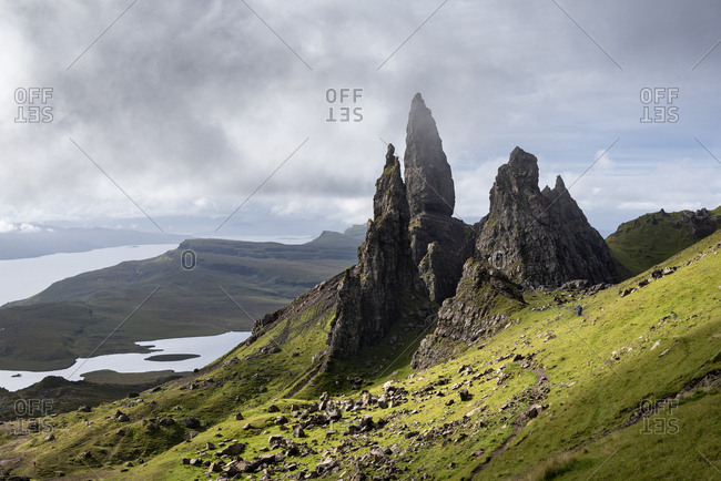 UK- Scotland- Inner Hebrides- Isle of Skye- Trotternish- Old Man of Storr