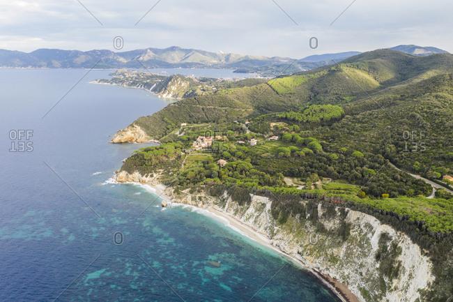 Italy- Elba Island- Aerial view