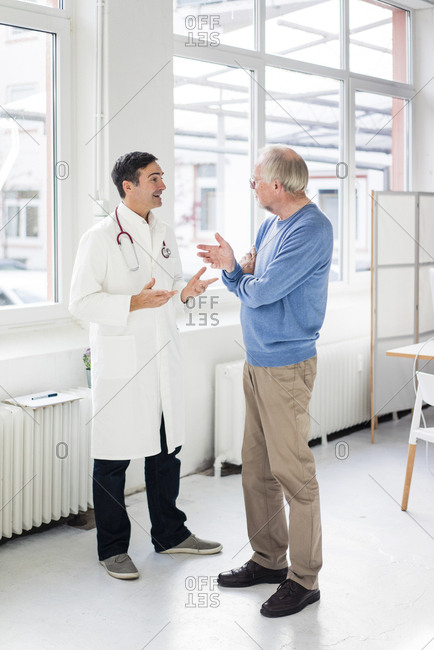 Doctor and patient talking in medical practice
