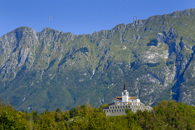 Slovenia- Soca Valley- near Kobarid- Church of St. Anton