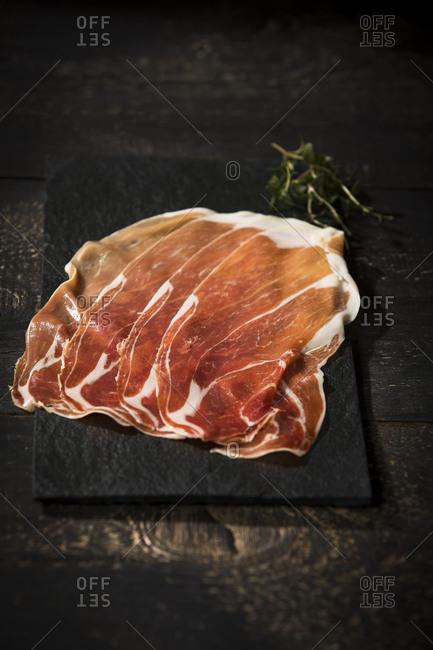 Prosciutto- dry-cured Italian ham