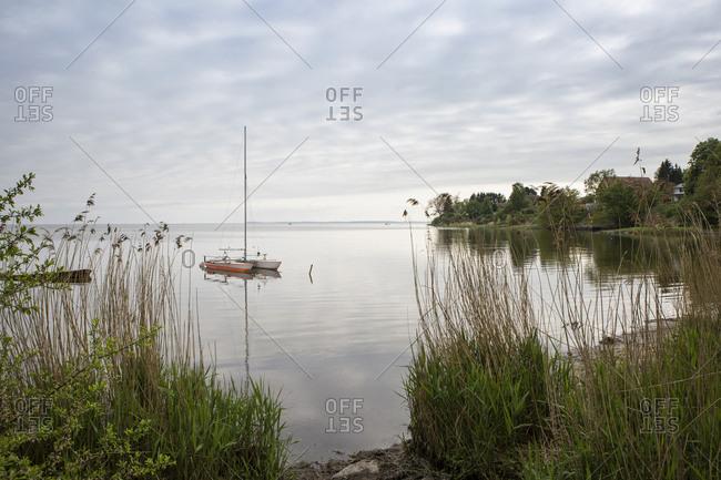Germany- Ruegen- Putbus- Lauterbach- catamaran on the Baltic Sea