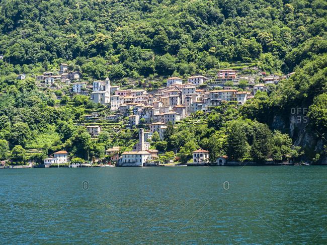 Italy- Lombardy- Lake Como- Argegno- townscape