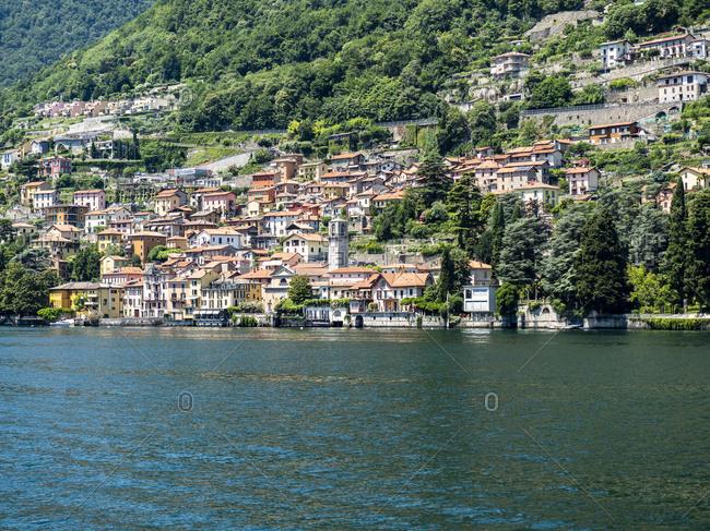 Italy- Lombardy- Lake Como- Carate Urio- townscape