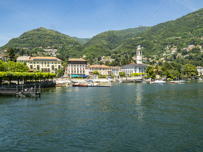Italy- Lombardy- Lake Como- Torno- townscape
