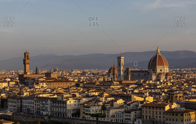 Italy- Florence- cityscape in the morning light