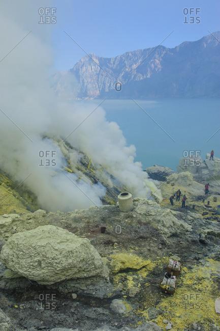 Indonesia- Java- acid Ijen crater lake