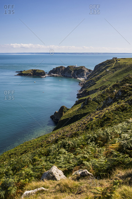 United Kingdom- England- Devon- Island of Lundy- Bristol channel- coastline