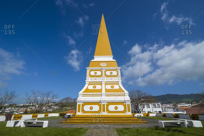 Portugal- Azores- Terceira- Angra do Heroismo- obelisk at Outeiro da Memoria