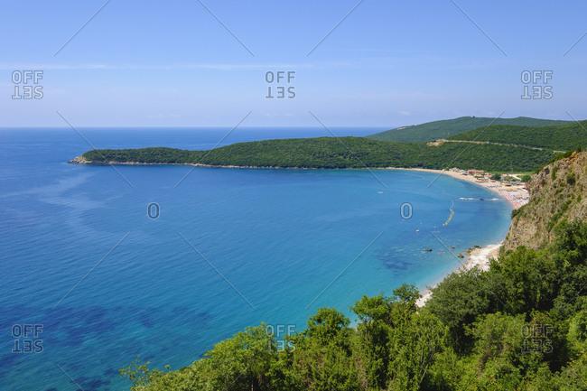 Montenegro- Adriatic Coast- near Budva- beach and Cape Jaz