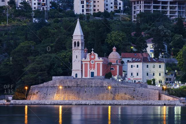 Montenegro- Adriatic Coast- Dobrota- Matthias Church in the evening