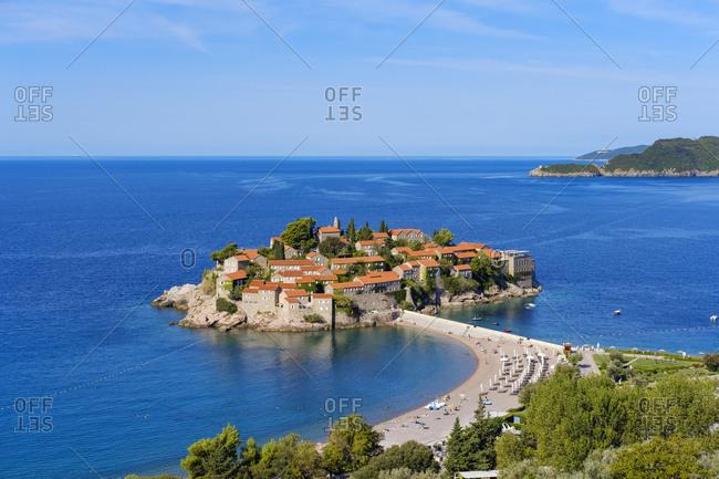 Montenegro- Adriatic Coast- Hotel Island Sveti Stefan and beach- near Budva