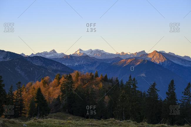 Germany- Bavaria- Upper Bavaria- Bavarian Alps near Lenggries- Isarwinkel