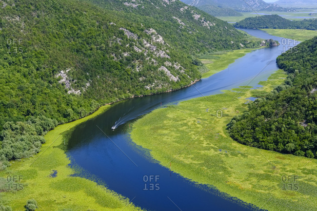 Montenegro- river Crnojevic seen from Pavlova Strana lookout