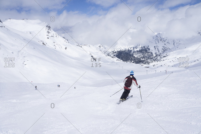 France- French Alps- Les Menuires- Trois Vallees- skier