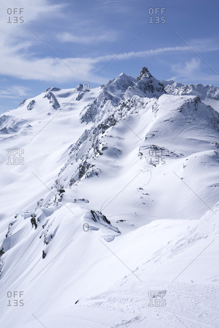 France- French Alps- Les Menuires- Trois Vallees- deep snow