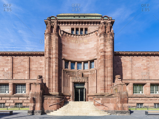 Germany- Mannheim- view to entrance of old art gallery