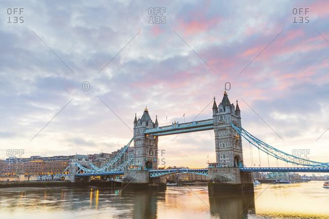 United Kingdom- England- London- Tower Bridge at sunrise