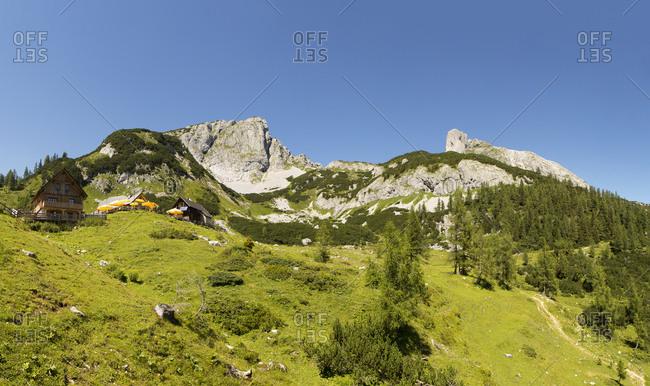 Austria- Styria- Tauplitz- Totes Gebirge- Alpine cabins