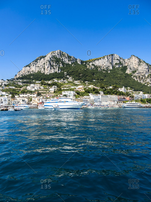 Italy - June 15, 2016: Campania- Gulf of Naples- Capri- Marina Grande