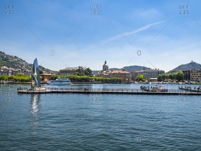 Italy - June 19, 2017: Lombardy- Lake Como- Como- townscape